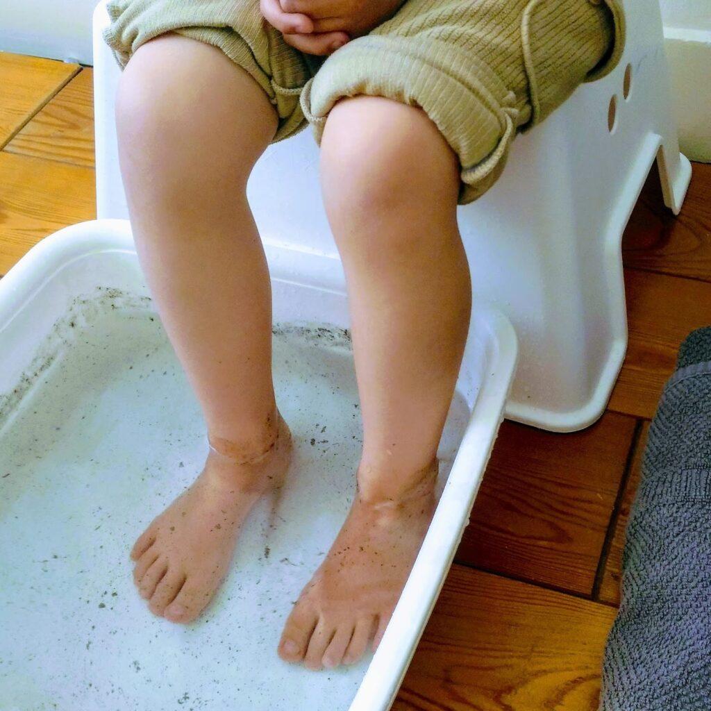 足湯で花粉症対策